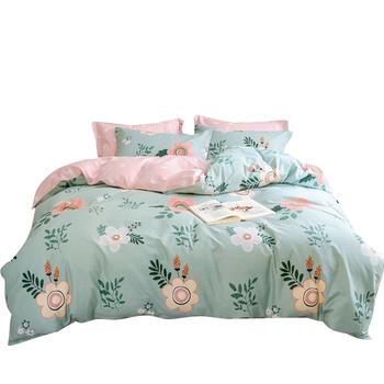 荻嘉茂 全棉斜纹床单被套四件套 花园畅想 多规格