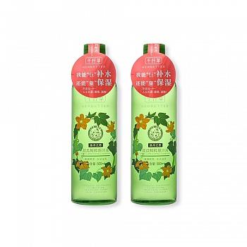 中国•千纤草丝瓜鲜粹原汁液两支组500ml*2瓶