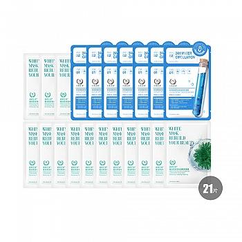 自然之名 玻尿酸复活草多倍补水面膜21片(玻尿酸7片+复活草14片)