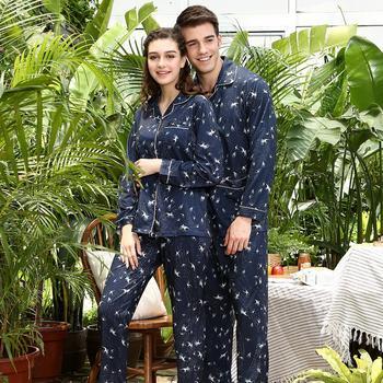 中国•红豆睡衣纯棉新品长袖情侣套装