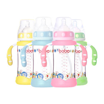 BOBO乐儿宝成长防摔优晶奶瓶240ml