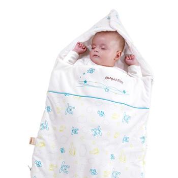 欧孕宝宝秋冬款纯棉抱被精梳棉