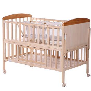 gb好孩子实木多功能摇篮婴儿床