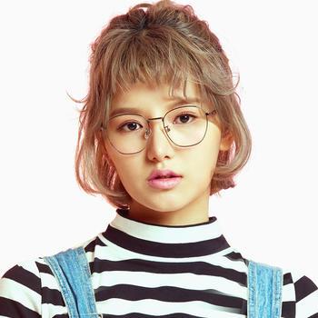 音米时尚方框眼镜框女韩版潮