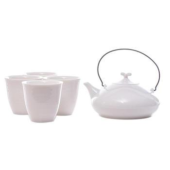 多样屋 日式茶具组-白/绿