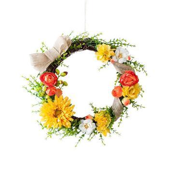 寓义 创意手工编织仿真花环