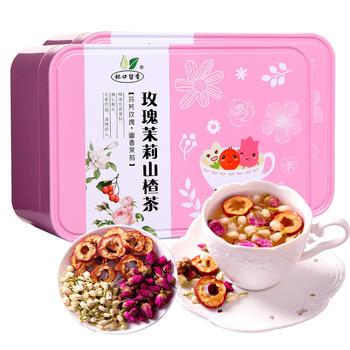 杯口留香玫瑰茉莉山楂茶 80g×2盒