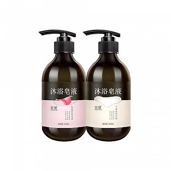 宣琪沐浴套装(牛奶沐浴皂液550ml+玫瑰沐浴皂液550ml)