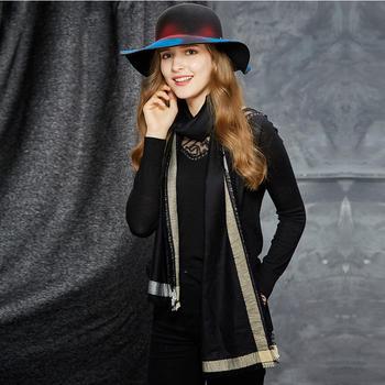 卡蒙格子羊毛流苏围巾女韩版围巾