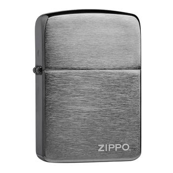 之宝(zippo)打火机24485拉丝黑冰