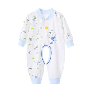 巧尼熊婴儿衣服春秋纯棉爬服开衫