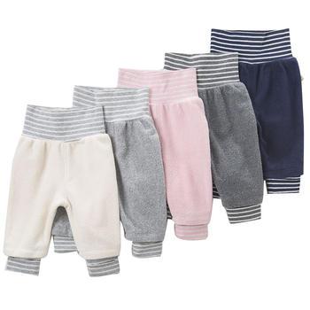 davebella男女童秋季棉弹绒布长裤