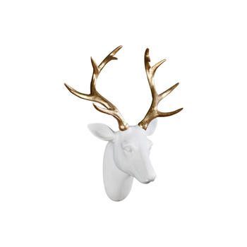 奇居良品 莫瓦尔金色鹿头壁饰