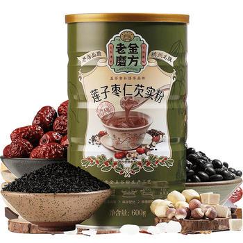 老金磨方 莲子枣仁芡实粉600g 五谷代餐粉