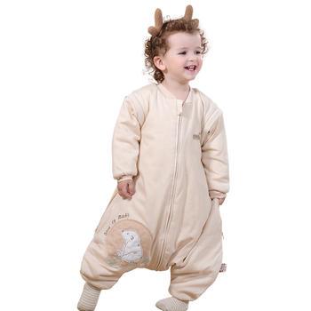 欧孕婴儿分腿秋冬睡袋防踢被纯棉