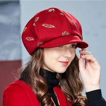 卡蒙刺绣鸭舌帽子女修脸型蓓蕾帽