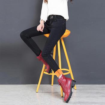 秋冬装加绒牛仔裤W6101-5多色中腰