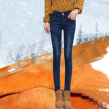 秋冬加绒加厚牛仔裤W6102-51保暖裤