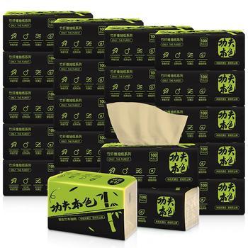 植护功夫本色竹浆抽纸24包箱装