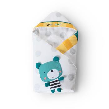 澳斯贝贝新生儿加大加厚棉抱被