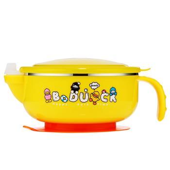 B.Duck儿童不锈钢碗餐具注水手柄