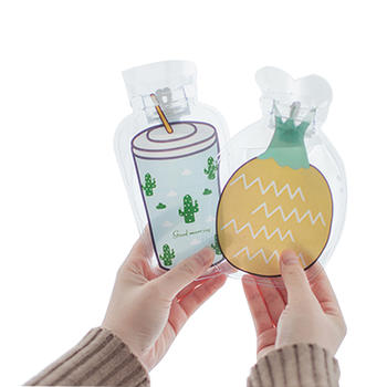 魅蝴 卡通果冻透明注水式热水袋