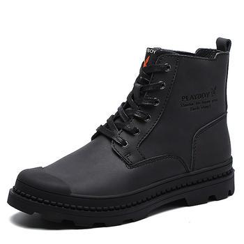 花花公子馬丁靴男復古英倫沙漠靴
