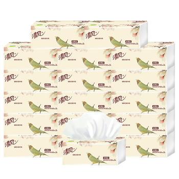 清风原木系列3层18包软包抽纸