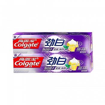 高露洁(Colgate)劲白亮白小苏打牙膏120g*2(晶亮薄荷,去黄亮白)