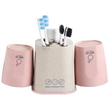 创意卫生间牙膏牙刷架简约情侣洗漱套装牙具盒刷牙漱口杯置物架