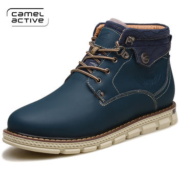 骆驼动感冬季加绒保暖男靴