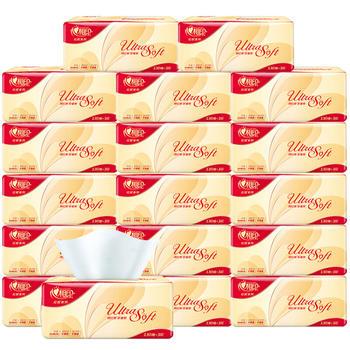 心相印红悦抽纸家用纸巾3层30包130抽