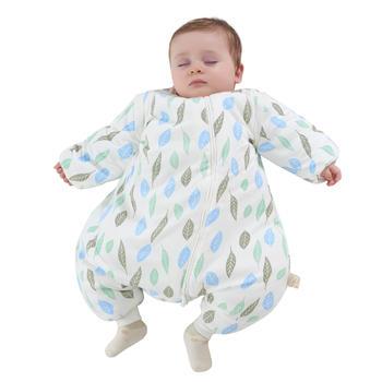 欧孕 婴儿秋冬加厚睡袋防踢被多彩分腿睡袋