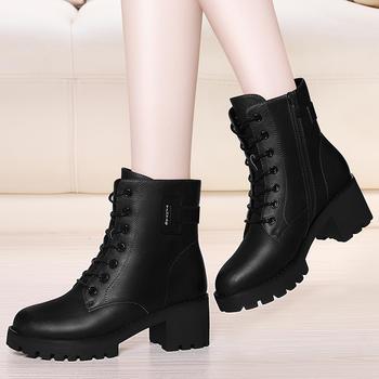 雪地靴女短筒加绒学生内增高短靴