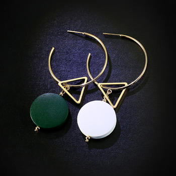 戴拉  时尚气质不对称耳环