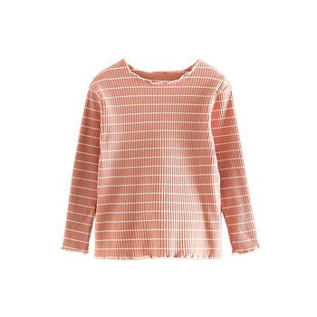 貝殼元素春秋裝女童童裝童條紋T恤tx8587
