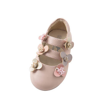 davebella春季新款女童皮鞋粉色