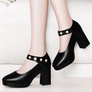 韩版皮鞋休闲厚底松糕鞋高跟女鞋
