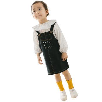 猪猪的故事女童裙子背带连衣裙