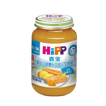 喜宝胡萝卜土豆三文鱼泥190g/瓶