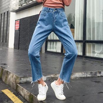 牛仔裤女女装直筒宽松阔腿CW1833