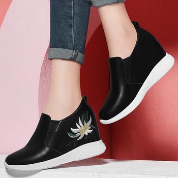 小白鞋女内增高女鞋春季韩版鞋子