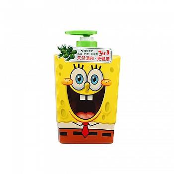 美国?海绵宝宝 (SpongeBob)橄榄优护三合一(洗发、护发、沐浴)400ml