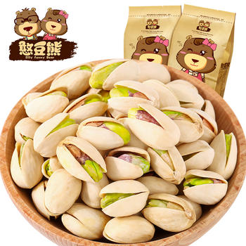 【憨豆熊 开心果120g】原味坚果
