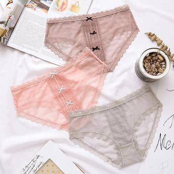 LWQGL2条装性感甜美中腰少女内裤