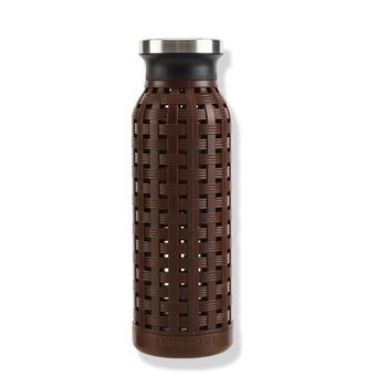 乐扣乐扣350ml复古编织直筒塑玻杯耐热玻璃水杯