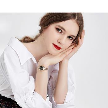 聚利时韩版复古时尚方形手链手表
