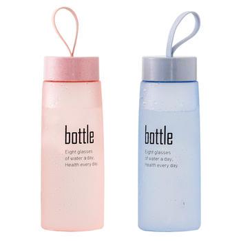 儿童塑料水杯子简约清新森系女小学生创意个性潮流男便携防摔水瓶
