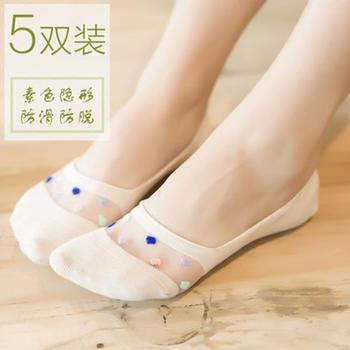 啵啵纯爆款蕾丝船袜隐形浅口袜