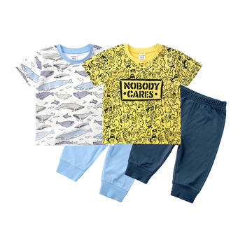 minizone夏季儿童卡通T恤裤子两件套